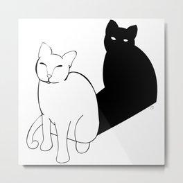 Dark side of the cat Metal Print