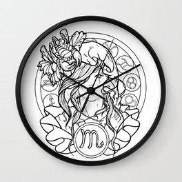 Zodiac Series | Scorpio Wall Clock