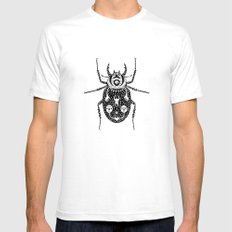 Diaboli Scarabæus - The Devil's Beetle White SMALL Mens Fitted Tee