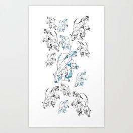 Polar bear population Art Print