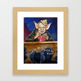 Piggies Rule Framed Art Print