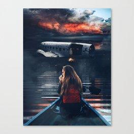 Survival after a plane crash by GEN Z Canvas Print