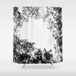 Minimalist Tree Branches & Shapes Shower Curtain