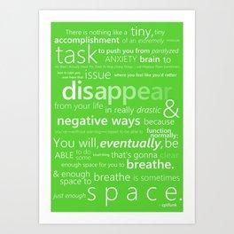 Lime Green Anxiety Art Print