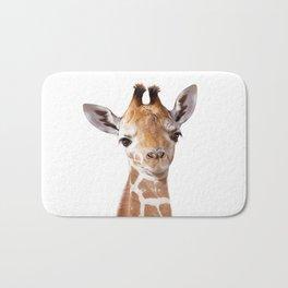 Baby Giraffe, Baby Animal Art Prints By Synplus Bath Mat
