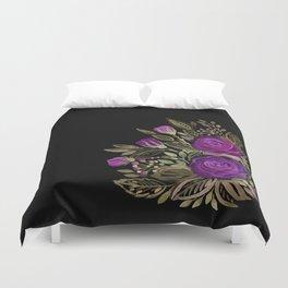 Purple rose watercolor Duvet Cover