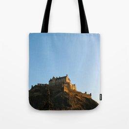 Edinburgh Castle from Princes's Garden Tote Bag