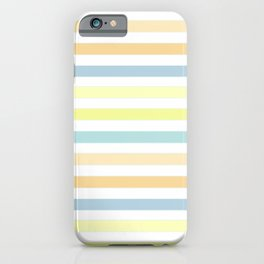 Horizontally striped , pastel 3 iPhone Case
