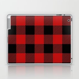 Western Country Woodland Christmas Cottage Primitive lumberjack Buffalo Plaid Laptop & iPad Skin