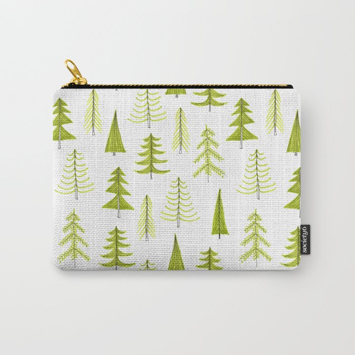 evergreen pattern Carry-All Pouch