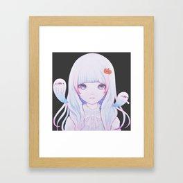 Ghost Girl Pumpkin Framed Art Print