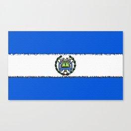 Fancy Flag: Nicaragua Canvas Print