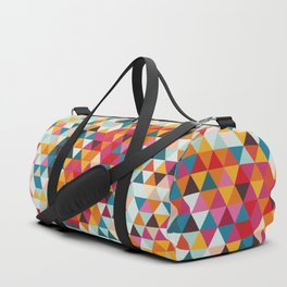 Vintage Summer Color Palette - Hipster Geometric Triangle Pattern Duffle Bag