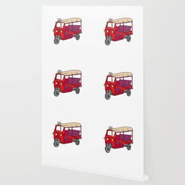 Red tuktuk / autorickshaw Wallpaper