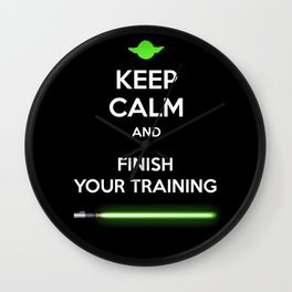 Yoda - Keep Calm and Finish Your Training Wall Clock