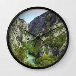 Gola del Furlo Wall Clock