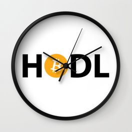HODL Bitcoin Wall Clock