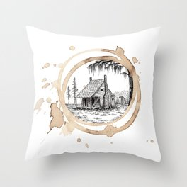 Coffee Stain Cajun Home-Louisiana Series Throw Pillow