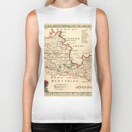 Map Of Berkshire 1758 Biker Tank