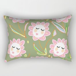 Springy Ladyflowers Rectangular Pillow