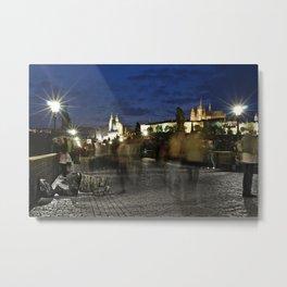 Prague Beggar Metal Print