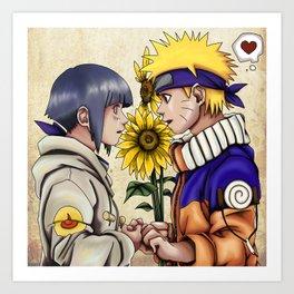 Naruto and Hinata Art Print