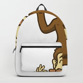 grill barbeque monkey Backpack