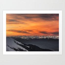 Peaks III Art Print