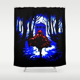 Shadow Light Of Tardis Shower Curtain