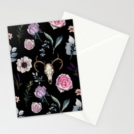 New life . Black Stationery Cards