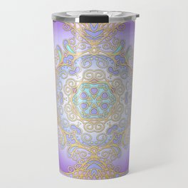 Purple & Gold Mandala Travel Mug