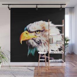 bald eagle 03 neon lines extraordinary Wall Mural