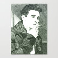 james franco Canvas Prints featuring Mr Franco by Troy Salmon Art