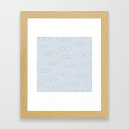 Seeing Kissing Fish Blue Dusty Blue Framed Art Print