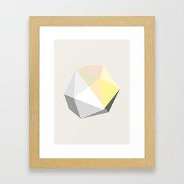 GEM – modern polygram illustration Framed Art Print