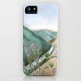 Burma Grade Merced River Mixed Media California Landscape  iPhone Case