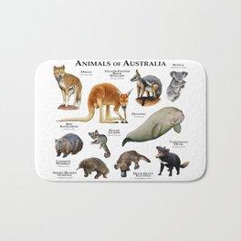 Animals of Australia Bath Mat