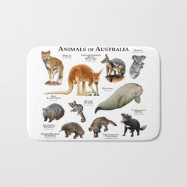 Animals of Australia Bath Mat