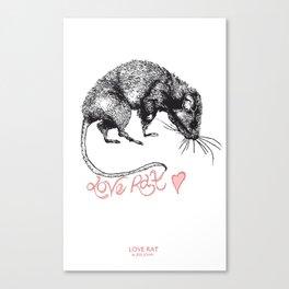 love rat Canvas Print