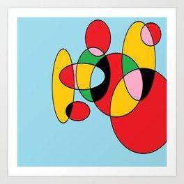 Circulos mult color Art Print