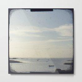 Boat on the ocean Metal Print