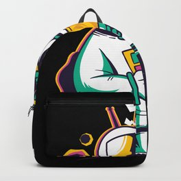 Astronaut loves good Music Backpack