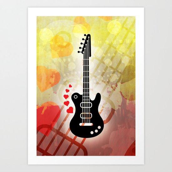 A Guitar for a Love Serenade Art Print