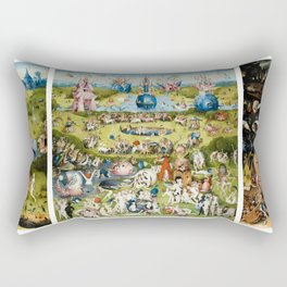 The Garden of Earthly Delights by Hieronymus Bosch Rectangular Pillow