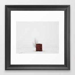 Red Boxcar Framed Art Print