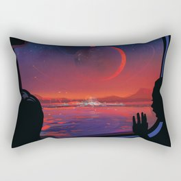 NASA Visions of the Future - Planet Hop from Trappist-1e Rectangular Pillow