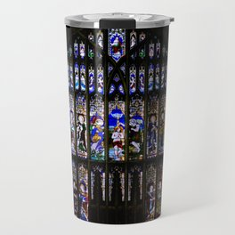 Stained Glass Window Shakespeare's Church Stratford upon Avon England Travel Mug