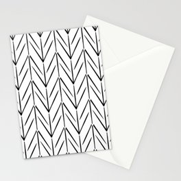 Simple chicken footprint lines pattern white and black Stationery Cards