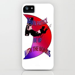 Dawn Patrol - Red Be Up With The Boards Kitesurf iPhone Case