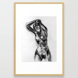 Nude Gesture Drawing Framed Art Print
